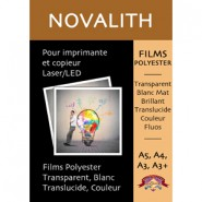 Pastel yellow matte polyester film 130 µ - Size : A4 (25 sheets)