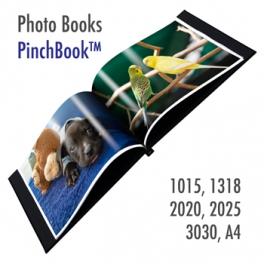 PinchBook- 2 Photo Book Cover (Black) Size : 13x18cm