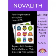 Polyester adhesif blanc satiné laser 155 µ - A4 (25 feuilles)