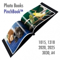 Pinchbook, photo book cover, black leather (with window) - A4 (210x297mm)